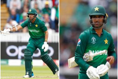 ہندستان بمقابلہ پاکستان : پاکستان کی اننگز لڑکھڑائی ، آدھی ٹیم پویلین لوٹی