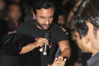 ہند بمقابلہ پاک میچ : پاکستانی کرکٹ فین نے بالی ووڈ اداکار سیف علی خان کے ساتھ کی بد سلوکی ، ویڈیو وائرل