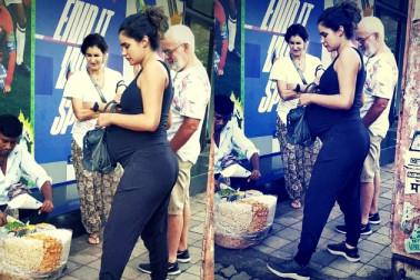 سڑک پر یہ کرتی نظر آئیں اس بالی ووڈ اداکار کی حاملہ گرل فرینڈ