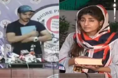 پاکستانی اداکار کی بیوی نے بھی اٹھایا قرآن، کہا۔ گرل فرینڈ کو فون لگا کر مجھے دیتا تھا جسمانی اذیت
