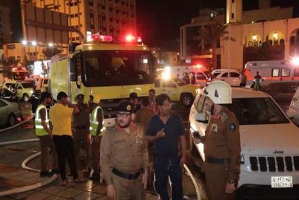 مکہ کے ایک ہوٹل میں آتش زدگی: 600 عازمین حج کو بحفاظت نکالا گیا