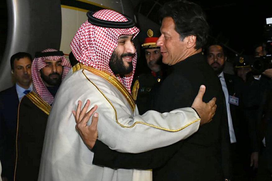 عمران خان اور سعودی عرب کے شہزادے محمد بن سلمان کی فائل تصویر