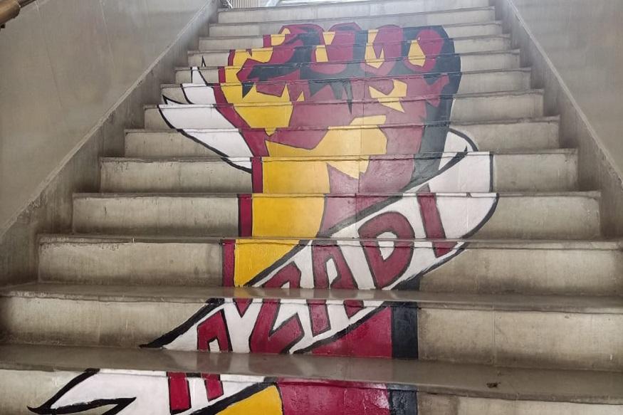 اب یہ زینہ شہریت ترمیمی قانون کے خلاف پریسڈینسی یونیورسٹی کے طلباء کی تحریک کا مرکز بن گیا ہے
