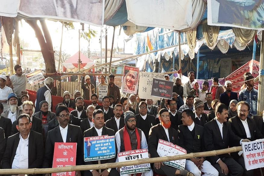 رانچی میں جاری احتجاجی مظاہرہ کے آٹھویں دن جھارکھنڈ ہائی کورٹ اور سول کورٹ کےکثیر تعداد میں وکلاء شامل ہوئے۔