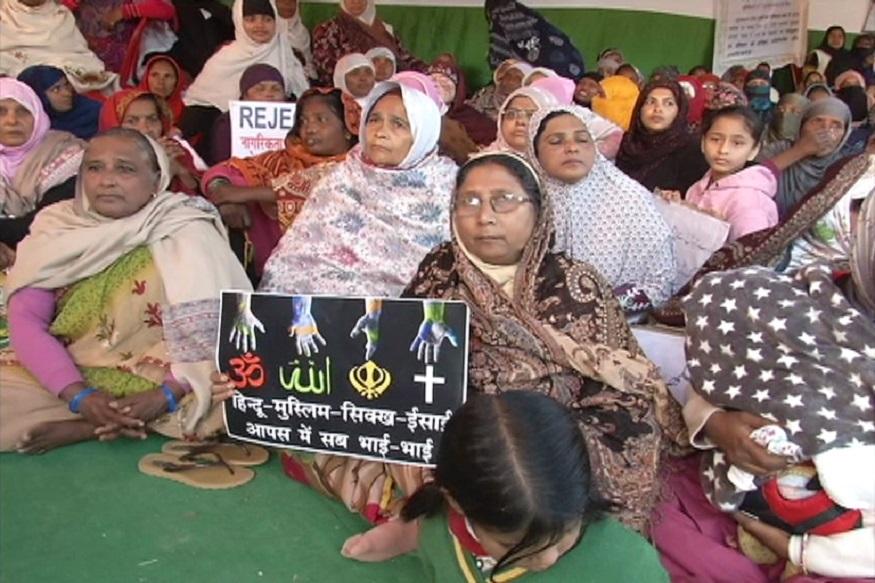 رانچی: حج ہاؤس کے روبرو دہلی کے شاہین باغ کے طرز پر غیر معینہ مدت احتجاجی دھرنا کا اہتمام۔(تصویر:نوشادعالم)۔
